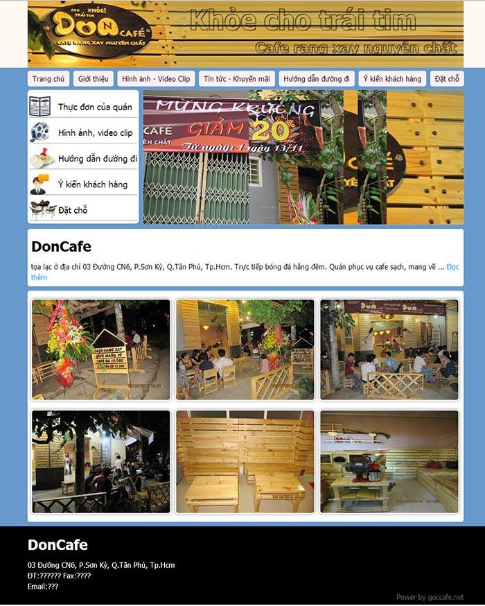 Mẫu website miễn phí