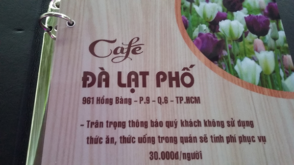 cafe da lat pho hong bang