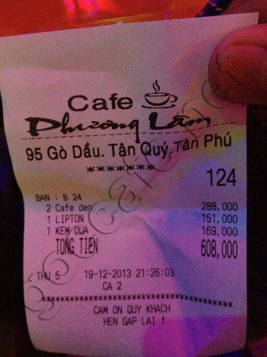 Cafe phuong lam go dau