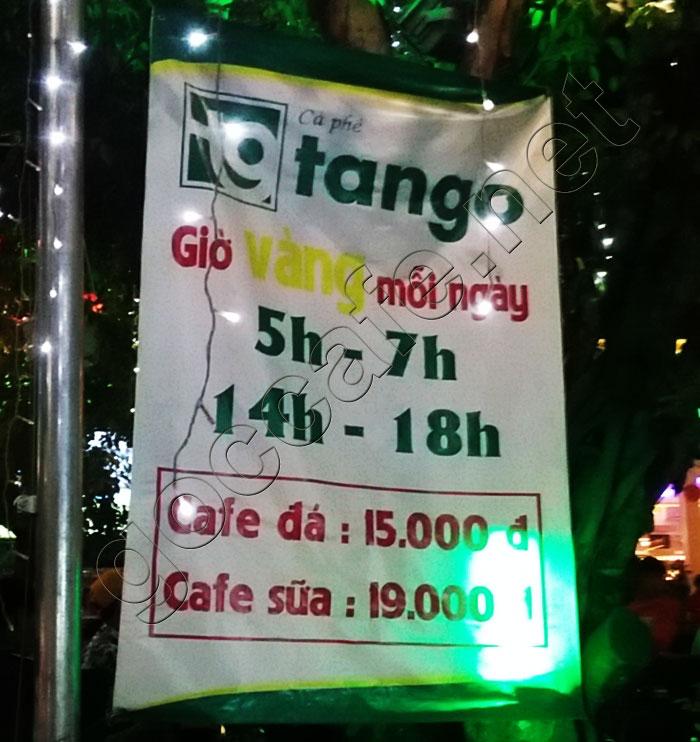 Cafe tango gio vang